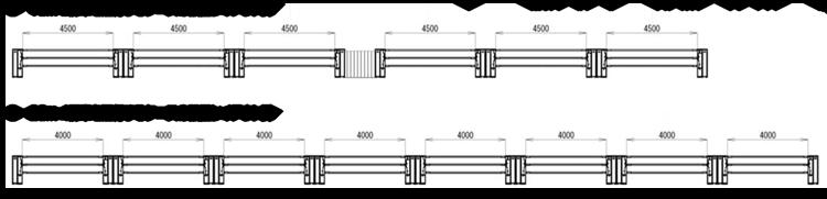 昇降式ホーム柵(昇降バー式ホーム柵)設置レイアウト