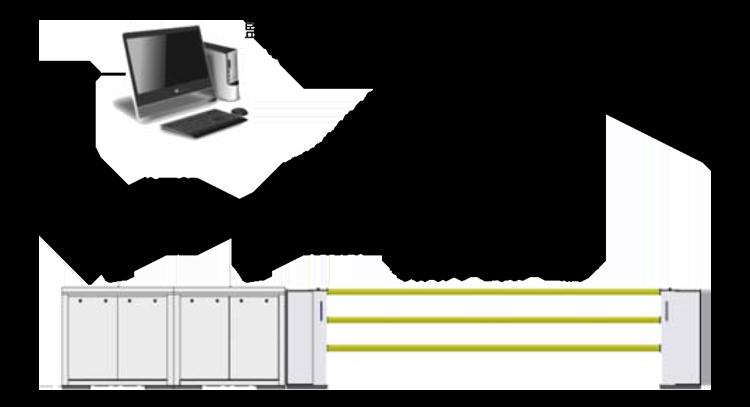 昇降式ホーム柵(昇降バー式ホーム柵)システム構成