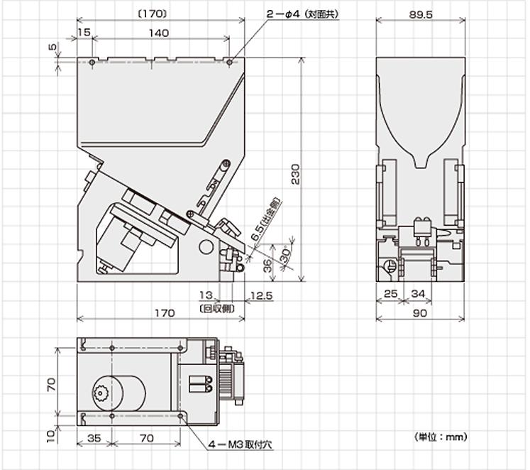 CH-Nシリーズ外形寸法図
