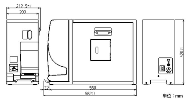 STPU-2120外形寸法図