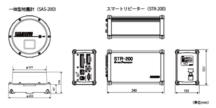 STR-200外形寸法図