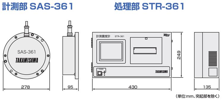 STR-361外形寸法図