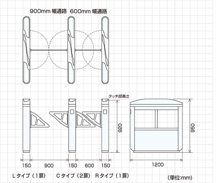 TAG-10000シリーズ外形寸法図
