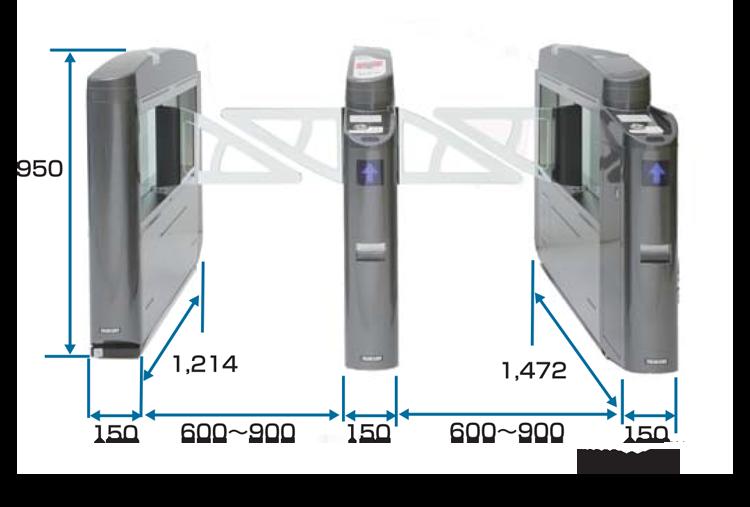TAG-11000シリーズ外形寸法図