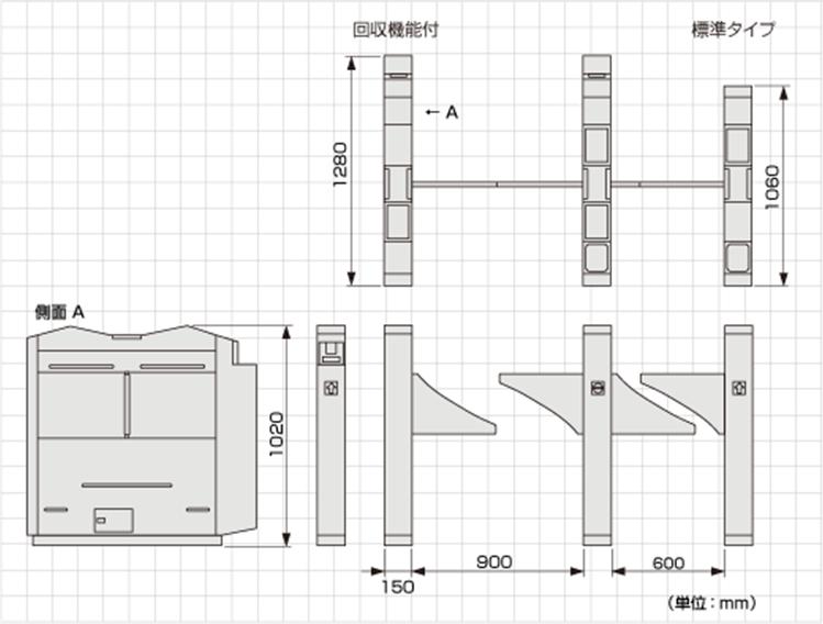 TAG-8300シリーズ外形寸法図