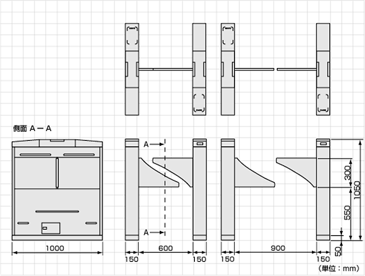 TAG-8000シリーズ外形寸法図