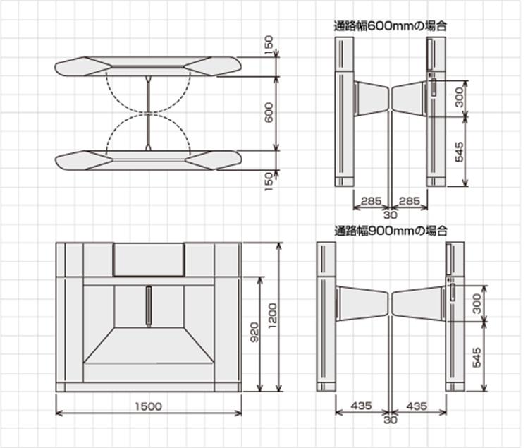 TAG-9000シリーズ外形寸法図