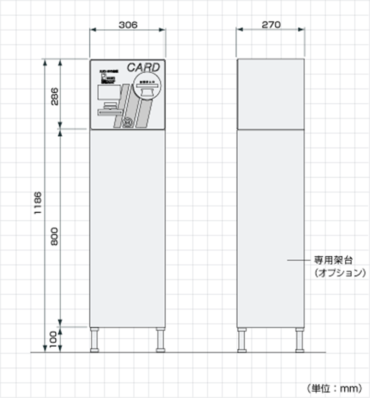 TCV-621A外形寸法図