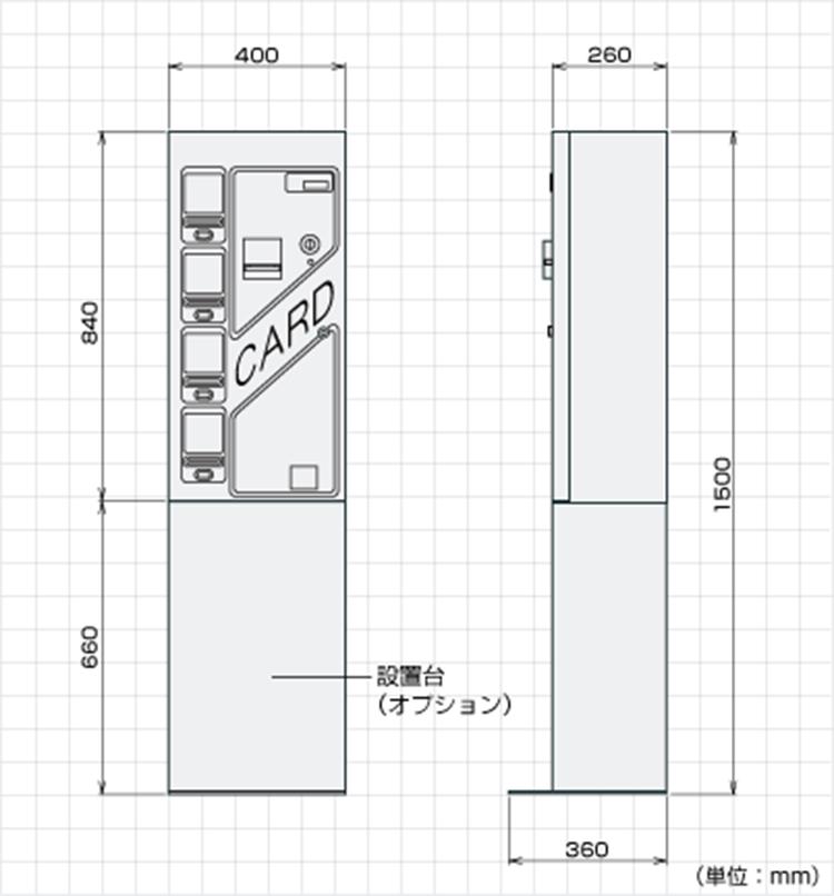 TCV-7340外形寸法図