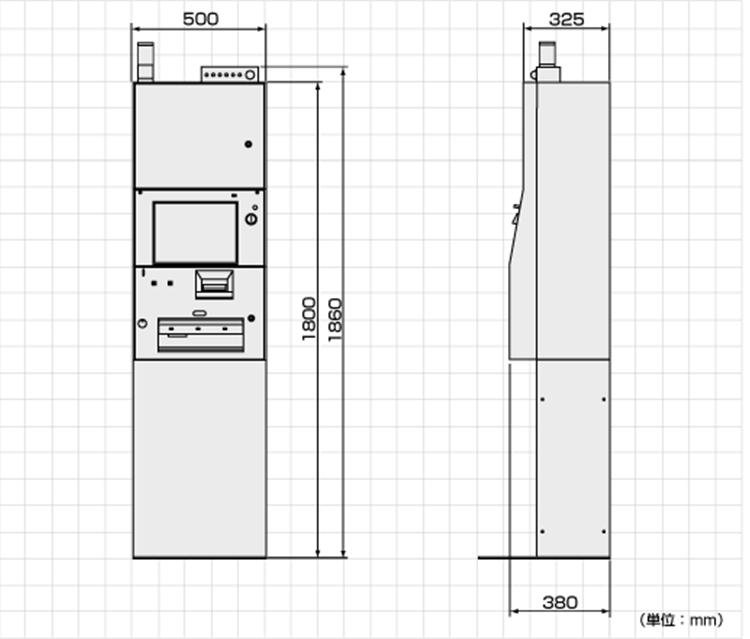 ULCV-1000外形寸法図