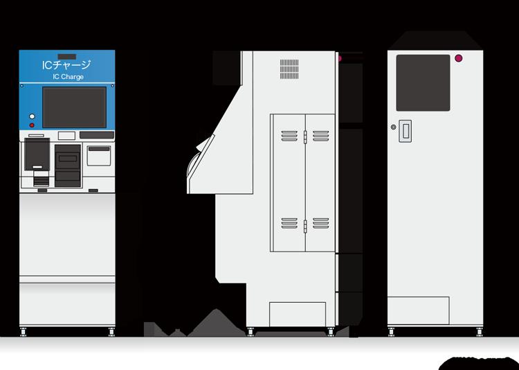 ICカード入金機 VTQ-200形寸法図